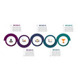 circle infographic template five option process vector image vector image