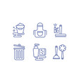 cleaning service icons set washing and tidying vector image vector image