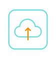 concept icon of application for cloud data saving vector image vector image