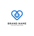 cross love medical logo design inspiration vector image