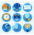 education icons in flat style and bright colors - vector image vector image