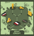 egypt color concept isometric icons vector image vector image