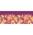 Fall flowers and leaves horizontal seamless vector image