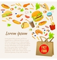 Fast Food Colorful Design vector image vector image