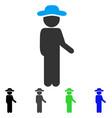 gentleman idler flat icon vector image vector image