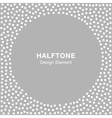 Halftone Dots Frame on Gray Silver Background vector image vector image