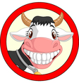 Happy cartoon cow mascot vector image vector image