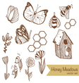 Honey Meadows seamless pattern vector image vector image