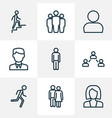 human outline icons set collection of couple vector image vector image
