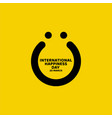 international happiness day template design vector image