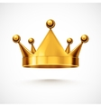 Isolated Crown vector image vector image