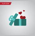 isolated present flat icon gift element vector image