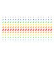 leaf branch shape halftone spectrum effect vector image