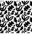 leaves and branches seamless pattern vector image vector image