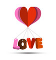 love symbol with paper cut heart vector image vector image