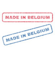 made in belgium textile stamps vector image vector image