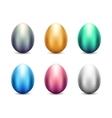Metal Eggs Set vector image vector image