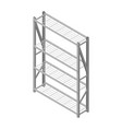 metal rack isolated on white background isometric vector image vector image