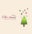 minimal christmas design with christmas tree vector image vector image