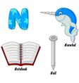 N alphabet vector image vector image
