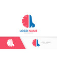 nose and brain logo combination ent clinic vector image