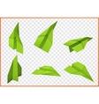 paper plane isometric flat vector image vector image