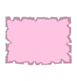 Parchment old paper Empty banner pink vector image vector image