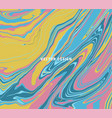 pastel pink yellow blue marble ebru abstract vector image
