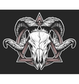 Ram skull with a geometric symbol vector image vector image