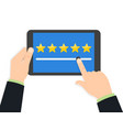 rating and review customer reviews rating vector image vector image
