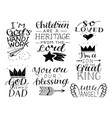 set 7 hand lettering baquotes so loved vector image vector image