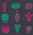 set of hand drawn fancy masks in african style vector image vector image
