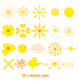 set of suns elements for design vector image vector image
