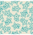 Simple minimalistic seamless floral pattern vector image