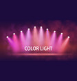 spotlight on stage for your design colorful light vector image