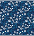 star and snowflakes seamless pattern vector image vector image