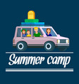 summer camp banner parents traveling with kids vector image vector image