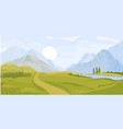 summer landscape background vector image