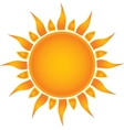 Sun over white vector image vector image