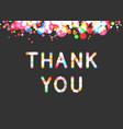 thank you phrase in sparkling bokeh effect vector image vector image