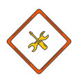 traffic signal with wrench and screwdriver vector image vector image