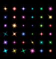 Transparent Glowing Light Effect Stars vector image vector image