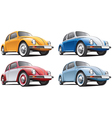 vintage classic vw beetle vector image vector image