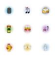 Wedding celebration icons set pop-art style vector image vector image