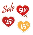 Cut Cupid for discounts vector image