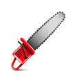 chainsaw isolated on white vector image