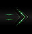 abstract green light arrow direction circle mesh vector image