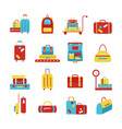 bags icon set luggage images vector image