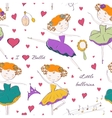 ballerina and accessories seamless pattern vector image vector image