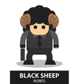 Black sheep business cartoon vector image vector image